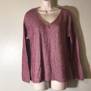 Hummingbird striped back knit sweater